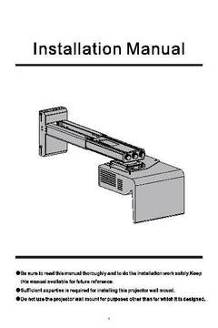 MX842UST Wall Mount User Manual - opens PDF