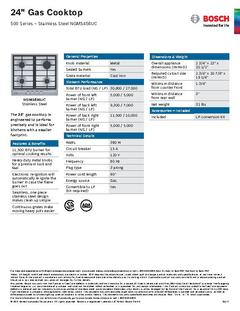 View Spec Sheet - NGM5456UC PDF