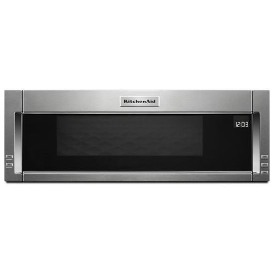 kitchenaid 1 1 cu ft over the range low profile microwave stainless steel. Black Bedroom Furniture Sets. Home Design Ideas
