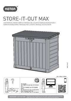 Store It Out Midi Amp Max Resin Horizontal Outdoor Storage