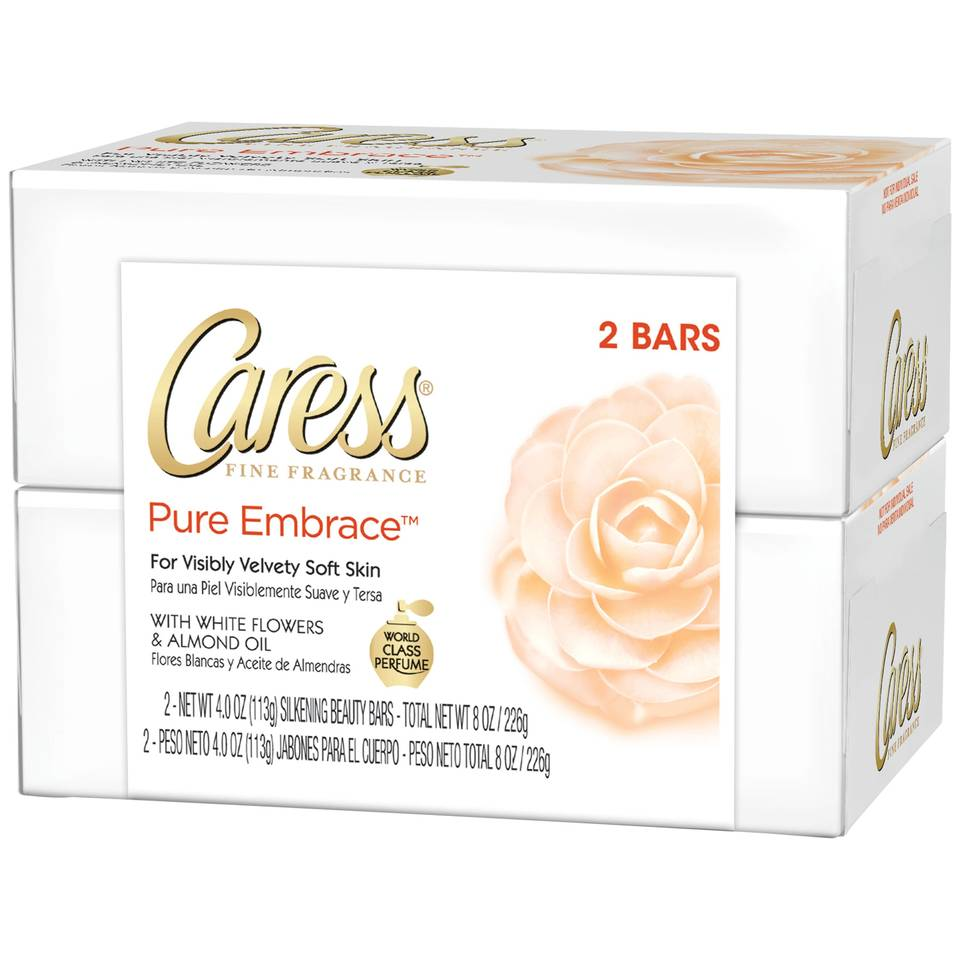 Caress Fine Fragrance Pure Embrace With White Flowers Almond Oil