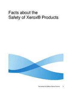 Facts about the Safety of Xerox Products - opens PDF