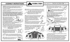 ozark trail 8 person tent instructions
