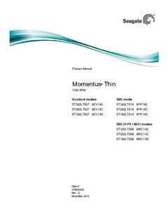 View Momentus Thin 7200 Sata Product Manual PDF