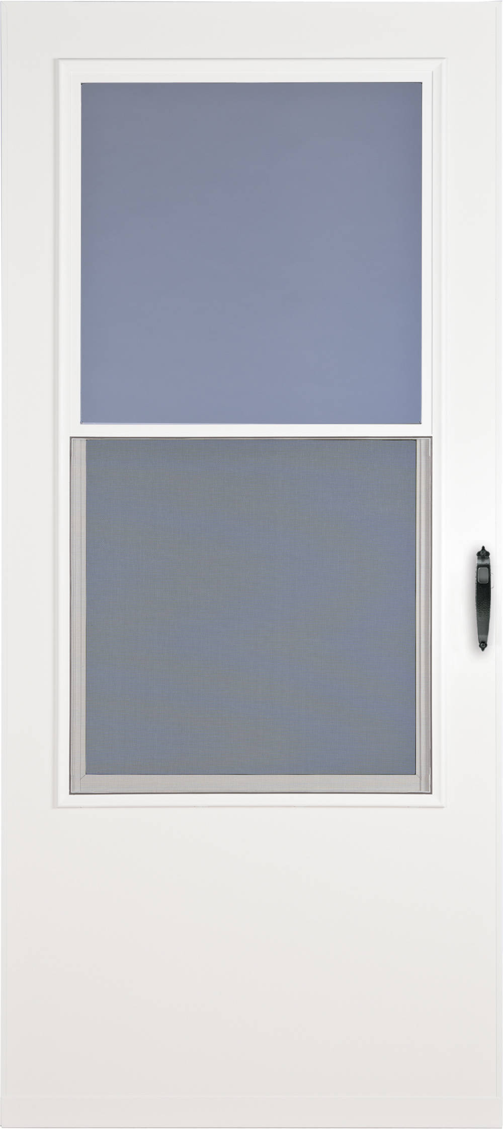 Shop Larson Bismarck White Mid View Wood Core Storm Door Common 30