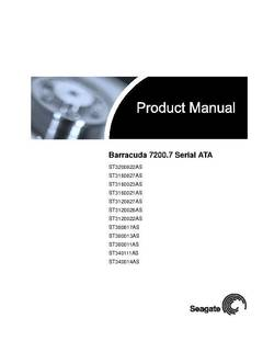 View Barracuda 7200.7 SATA Product Manual PDF