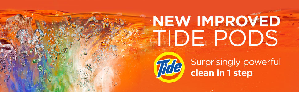 New improved tide pods suprisingly powerful clean in 1 step