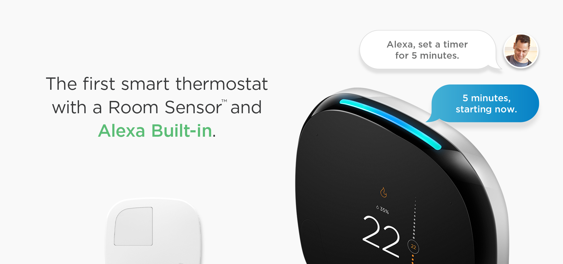 Ecobee 4 Smart Thermostat W  Room Sensor Works W  Google Assistant  U0026 Apple Homekit