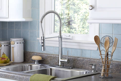 This Clic Polished Chrome Finish Lends A Brightness To The Modern Proefessional Styled Faucet Making It As Intriguing And Beautiful Is Functional