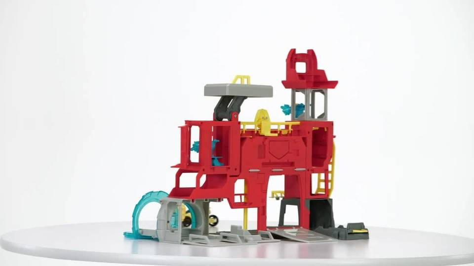 Playskool Heroes Transformers Rescue Bots Griffin Rock Firehouse Headquarters - 360° View