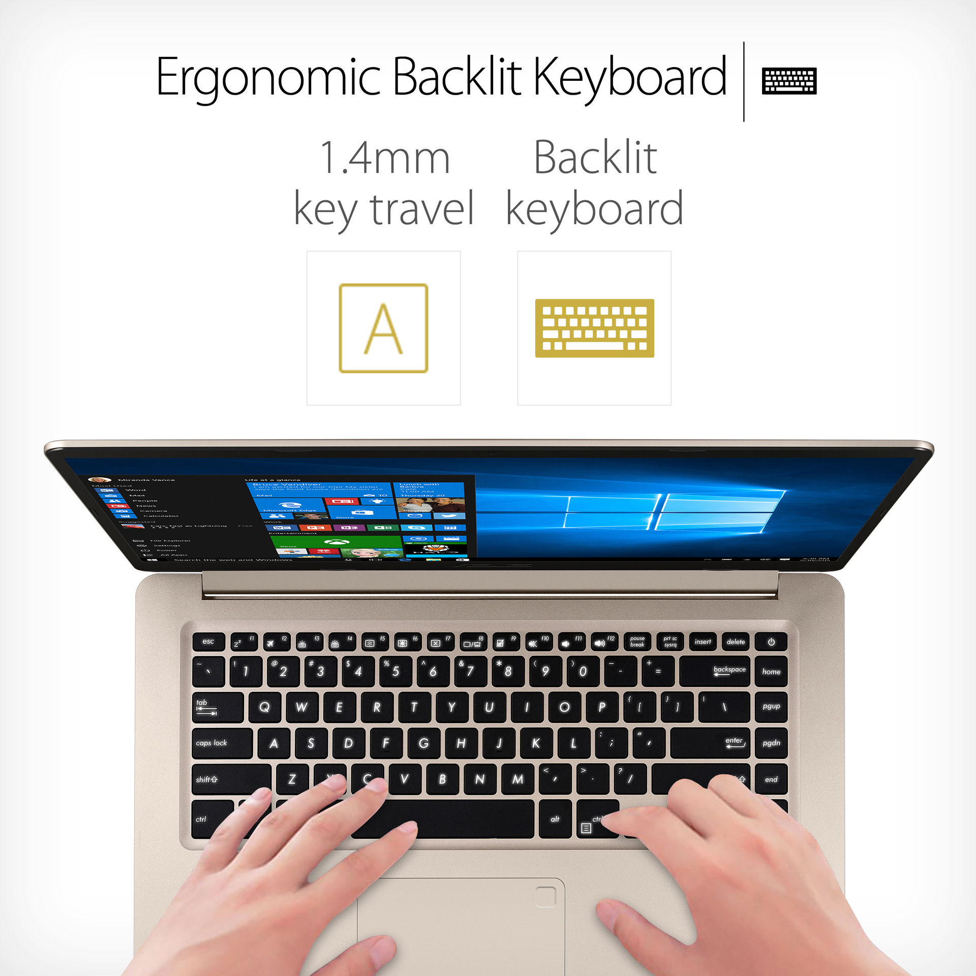 Ergonomic Backlit Keyboard