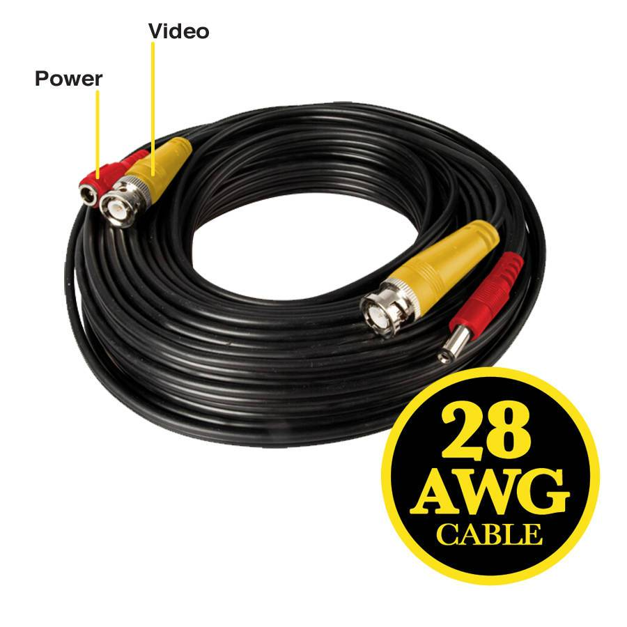 Night Owl 60 Feet Bnc Videopower Camera Extension Cable
