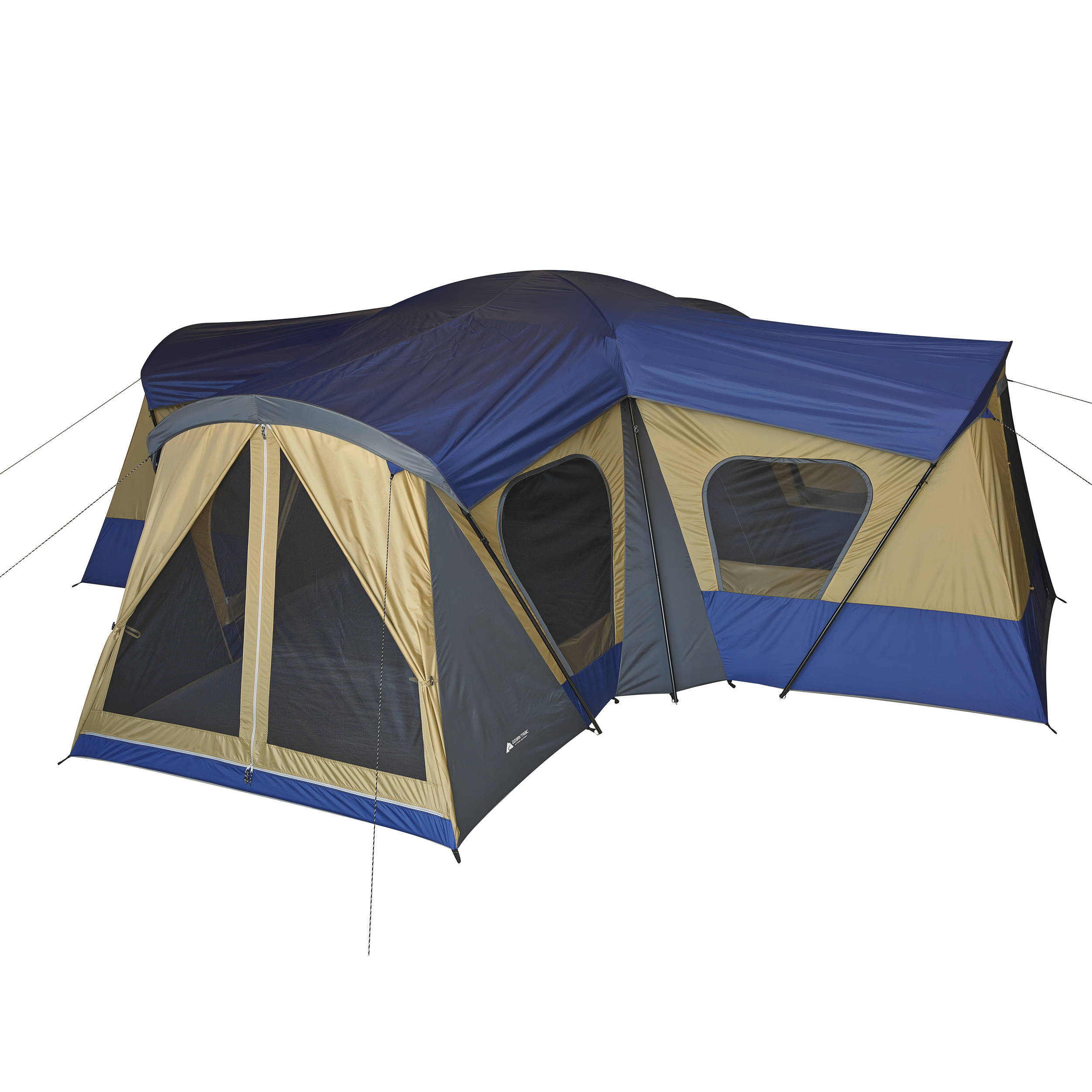 Ozark Trail 10 Person 3 Room Cabin Tent Walmart Com