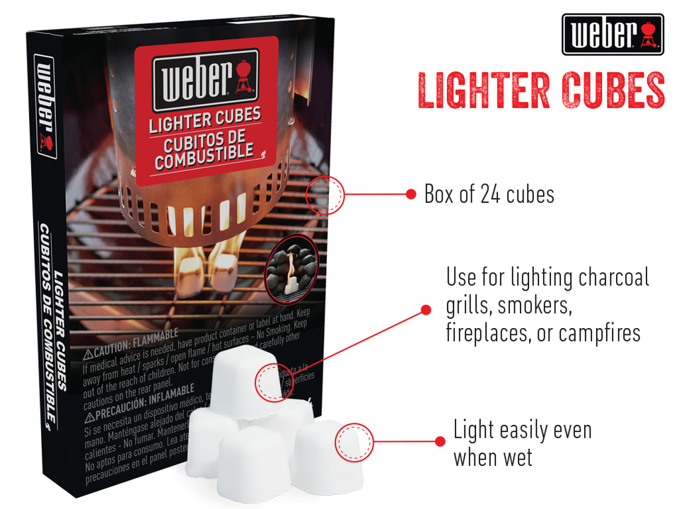Bbq Starter Weber.Lighter Cubes 24 Pack