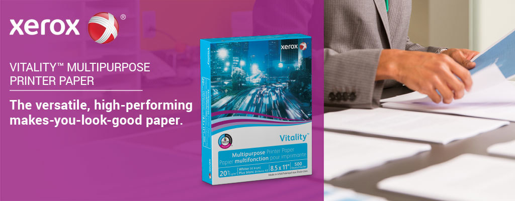 Reliable Results with Xerox® Vitality™ Multipurpose Printer Paper