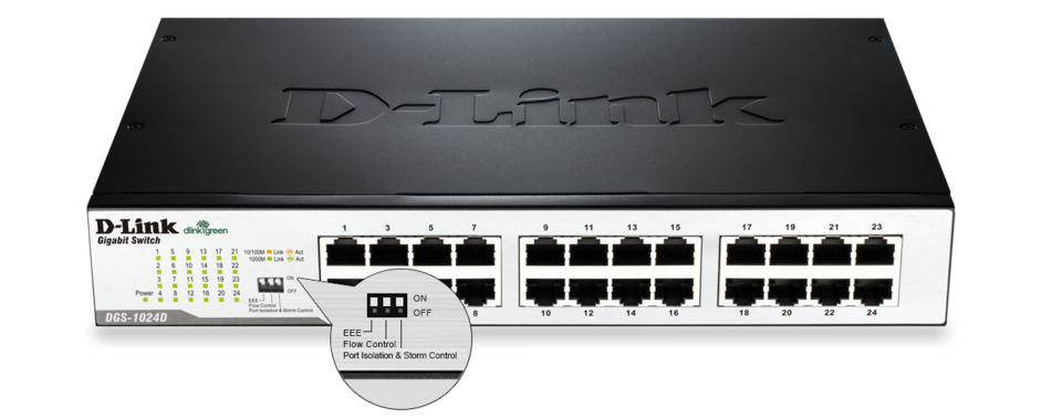 D-Link DGS 1024D - switch - 24 ports - unmanaged - rack-mountable