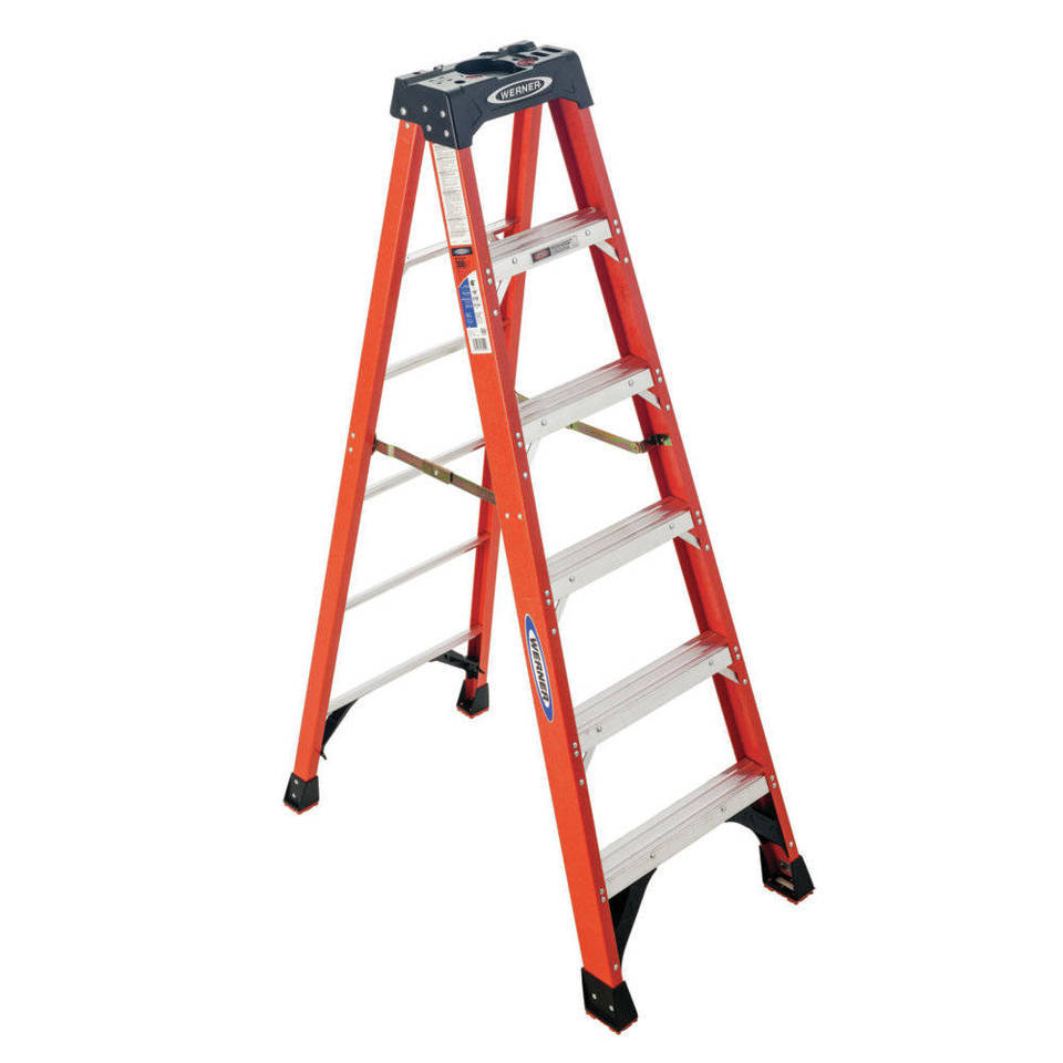 Werner Nxt 10 Ft Fiberglass Type 1a 300 Lbs Capacity Step Ladder In The Step Ladders Department At Lowes Com