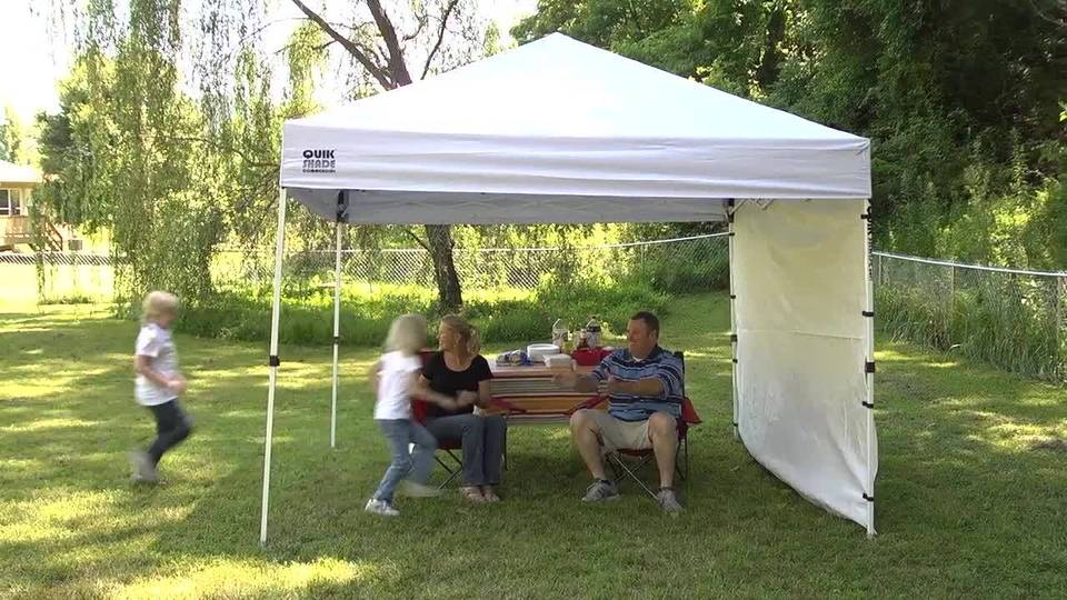 quik shade commercial 10x10 straight leg instant canopy 100 sq ft coverage walmartcom - U Shape Canopy 2015