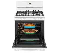 Frigidaire Gas Freestanding Range: FFGF3051TW, Door open, Loaded