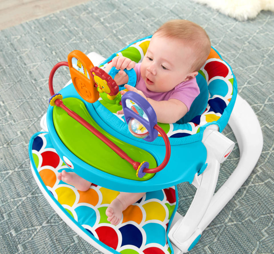 Sit-Me-Up Floor Seat with Toy Tray | DRH80 | Fisher-Price