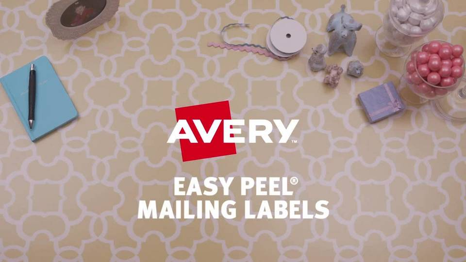 Avery Easy Peel White Inkjet Address Labels 8161 1 X 4 Box Of 500 By