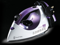 Russell Hobbs 17877 2400W Easy Fill Purple Ceramic Soleplate Steam Iron