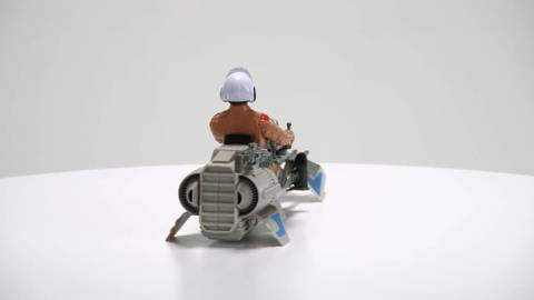 Star Wars Speeder Bike and Poe Dameron  - 360° View