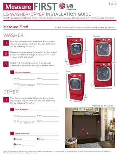 Measure First Laundry Installation Guide - opens PDF